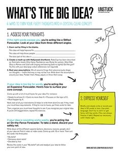 These 6 exercises help you fine-tune and communicate that great idea that's stuck in your head.