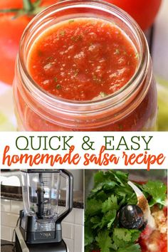 This is such an EASY homemade salsa recipe! All you have to do is throw all the ingredients into your blender, and blend! It tastes just like restaurant salsa, and goes perfectly with tortilla chips, tacos, enchiladas, or any other Mexican food! #homemadesalsa #salsa #easyhomemadesalsa #salsa #easysalsa Work Meals, Easy Meals, Simple Meals, Mexican Food Recipes, Mexican Meals, Ethnic Recipes, Restaurant Salsa, Easy Homemade Salsa, Salsa Recipe