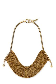Channel your inner Cleopatra with the DVF Thea Mesh Drape Necklace