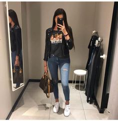 Moda Casual Outfits Winter Stylists For 2019 Mode Outfits, Trendy Outfits, Winter Outfits, Summer Outfits, Fashion Outfits, Womens Fashion, 20s Outfits, Movie Night Outfits, Funeral Outfits