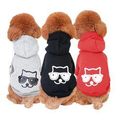 Pet Dog Cat Hoodie Cotton Coat Kitten Cartoon Design Casual Sweater Jumpsuit Sweatshirt Kitty Clothes Apparel