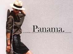 Panama hat - kaki shirt - faux leather black mini skirt - aviators - cambodian handcraft bag - golden flat boho sandals