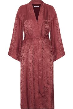 Dusty-pink floral-jacquard Slips on 67% viscose, 33% silk Dry clean Designer color: Rhubarb