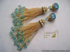 Bridal Earrings, Tassel Earrings, Beaded Earrings, Handmade Beaded Jewelry, Earrings Handmade, Jewelry Making Tools, Jewelry Patterns, Bead Art, Bead Weaving