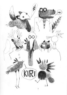TAMARIT - Some drawings from this afternoon. Some of them...