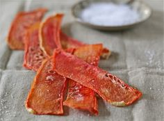 Dried watermelon slices -- from the Kitchen Ninja