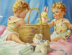 """""""Baby Love"""" -- by Mabel Rollins Harris (American, Jessie Willcox Smith, Very Beautiful Images, Baby Illustration, Retro Baby, Children Images, Baby Art, Mother And Child, Mother Art, Vintage Pictures"""