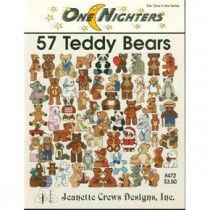 57 Teddy Bears Cross Stitch Patterns One Nighters 472