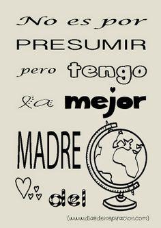 Lámina decorativa: La mejor madre del mundo. The best mother in the world.