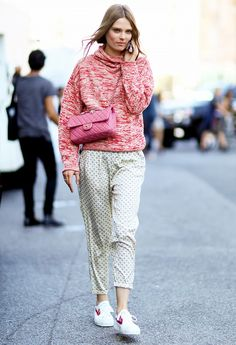 Pajama pants street style