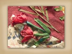 ▶ how to make silk ribbon embroidered tulip flowers - YouTube