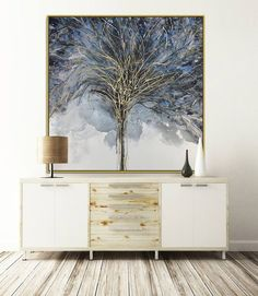 Superieur Winter Dark Tree Branches Square Canvas Wall Art Custom Gift Canvas Print  Art Ready To Hang Bespoke Custom Size Canvas Art