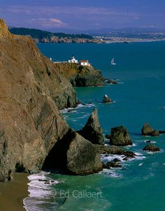 "Point Bonita Lighthouse, Golden Gate National Recreation Area, Marin County, California - This is near the top of my ""want to see it"" list, too! I'd love to go across the suspension bridge, as it was closed when I hiked out there a couple years ago!"