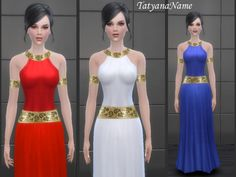 Egyptian dress at Tatyana Name via Sims 4 Updates