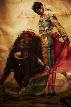 Matador painting, Mexico