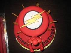 "Critelli Siemens Colman here is a Flash cake. Of course I would put a real Flash toy on the cake D. Comics ""The Flash"" birthday cake Flash Birthday Cake, Flash Cake, Drake's Birthday, 10th Birthday Parties, Birthday Cakes, Birthday Ideas, The Flash Season, Superhero Cake, Occasion Cakes"