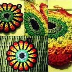 9 Beste Afbeeldingen Van Regenboog Haken Crochet Doilies Crochet