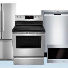 4 Piece Stainless Steel Kitchen Appliance Set