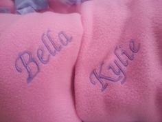 Little Mermaid fleece blanket with custom names! Font and color choices available!  Personalized top of the line blankets customized just for you! www.kiyswonders.storenvy.com Personalised Tops, Personalised Blankets, Embroidered Blankets, The Little Mermaid, Choices, Tattoo Quotes, Just For You, Names, Color