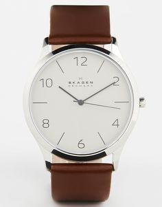 Skagen – Uhr mit Lederarmband SKW6150
