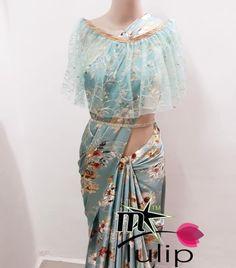 1310 free ship india *TULIP DESIGNER PONCHO SAREE* *Size* Waist Skirt, High Waisted Skirt, Satin Saree, Tulips, India, Ship, Skirts, Free, Design