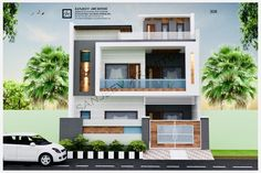 House Front Wall Design, House Outer Design, House Outside Design, Bungalow House Design, Small House Design, Modern Bungalow House, Bungalow Exterior, Temple Design For Home, Residential Building Design