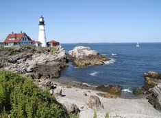 Portland Headlight overlooks stunning Portland Harbor!
