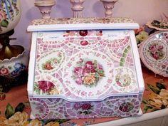 Large Rose Mosaic Breadbox by hillspeak, via Flickr