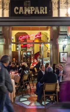 Night Cafe in Milan, Italy