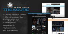 Treasure | Blog and Magazine PSD Template