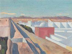 Albert Pfister  Morgenländische Landschaft , um 1910 - 1913 Painting, Art, Switzerland, Auction, Scenery, Painting Art, Kunst, Art Background, Paintings