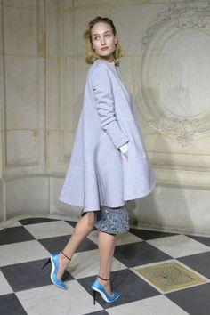 Gwiazdy na pokazach haute couture wiosna-lato 2014 w Paryżu: Leelee Sobieski na prezentacji Dior, fot. East News
