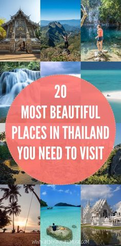 beautiful itinerary thailand planning bucket places should click check best list plan will help make Best of THAILAND 20 Most Beautiful Places Planning a trip to Thailand Here are 20 of the most beaYou can find Thailand and more on our website Thailand Travel Tips, Japan Travel Tips, Iceland Travel, Asia Travel, Travel Usa, Places To Travel, Places To See, Wonderful Places, Beautiful Places