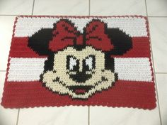 Tapete Croche Barbante Personagem Minnie