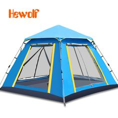140.37$  Buy here - http://airab.worlditems.win/all/product.php?id=32740608726 - 3 -4 people outdoor tents sunscreen beach home camping equipment automatic stainless steel camping tents