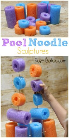 Simple and fun pool noodle sculptures for art and engineering!