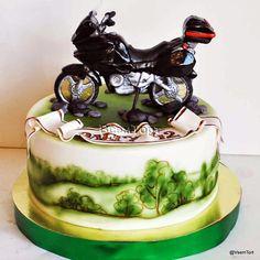 Торт Мотоцикл Beautiful Cakes, Amazing Cakes, Cake Cookies, Cupcake Cakes, Cake Design For Men, Harley Davidson Cake, Motorcycle Cake, Cupcakes For Boys, Hand Painted Cakes