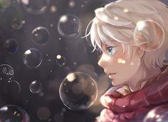 aldnoah.zero all_male blue_eyes bubbles close feng_(s9654431) gray_hair male short_hair slaine_troyard