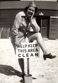 Unidentified woman with an important message…
