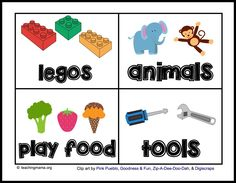 Toy Room Organization & Free Toy Bin Labels Toy Room Organization und kostenlose Toy Bin Labels This image has get. Toy Storage Bins, Toy Bins, Kids Storage, Craft Storage, Storage Ideas, Baby Storage, Playroom Storage, Kitchen Storage, Storage Solutions