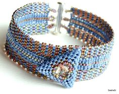 art, crafts and beads: Denim Chic Bracelet