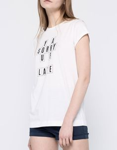:SHORT SLEEVE T-SHIRT WITH TEXT