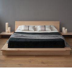 Painting of Solid Wood Platform Bed Frame Design Selections Raised Platform Bed, Low Platform Bed, Platform Bed Designs, Solid Wood Platform Bed, Platform Bed Frame, Floating Platform, Floating Bed, Modern Platform Bed, Cama Tatami