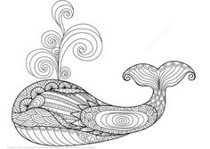 Whale Zentangle coloring page from Zentangle category. Select from 21162 printable crafts of cartoons, nature, animals, Bible and many more.
