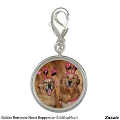 Golden Retriever Heart Boppers Charms