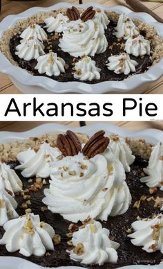 """Arkansas Pie, also called """"possum pie,"""" is a creamy, chocolaty pie that fools folks into thinking it's another kind of pie!"""
