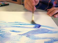Art is Basic-- Art Teacher Blog: How to Paint Gorgeous Clouds with Watercolor-- 5th and 6th Grade