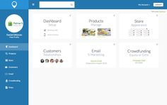Logged-in dashboard of connection platform Email Campaign, Gift Store, Connection, Platform