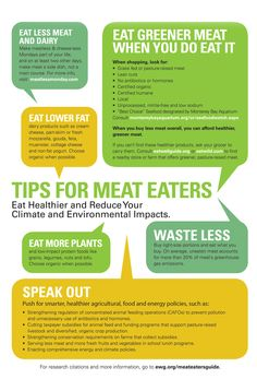 At-A-Glance | Meat Eater's Guide to Climate Change + Health | Environmental Working Group