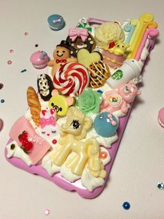 iPhone 6 decoden case -- hand made with ♥ from My Deco Den #decoden #dekoden #whipped #cream #iphone #case #iphonecase #FairyKei #Rilakkuma #cute #kawaii #pony #carebear #rainbow #starbucks